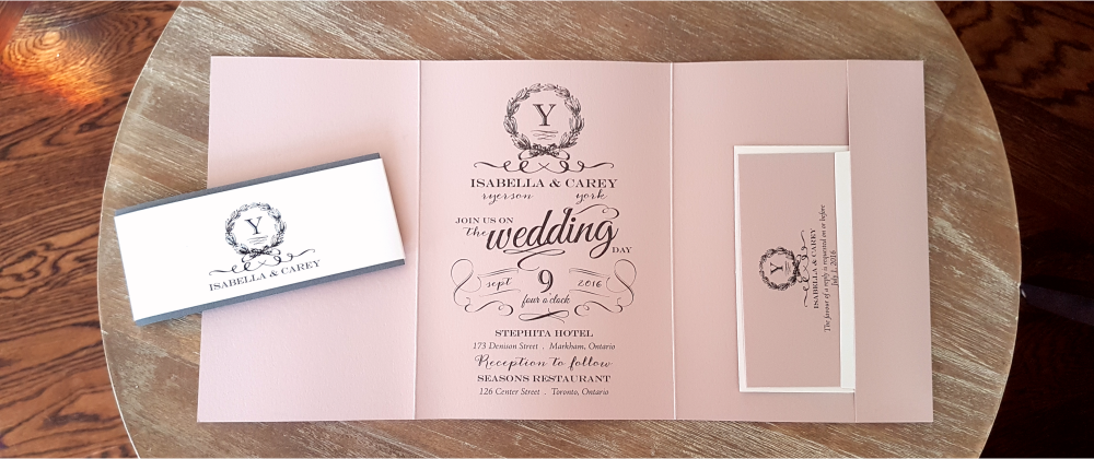 Wedding Invitations Toronto Affordable Custom Cards Ribbon Buckle