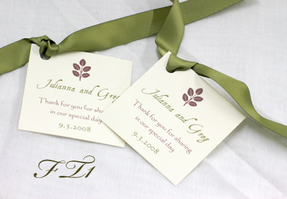 Wedding Gift Tag Wording : FAVOR TAGS