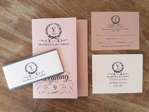 Wedding Invitation 1621: Blush Pearl, Blush Pearl