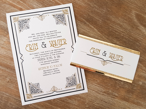Wedding Invitation 1629: Ice Pearl, Ice Pearl