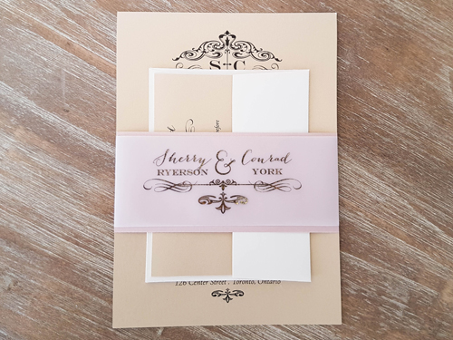 Wedding Invitation 1645: Gold Dust, Gold Dust
