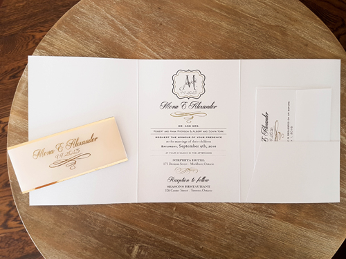 Wedding Invitation 1650: Ice Pearl, Ice Pearl