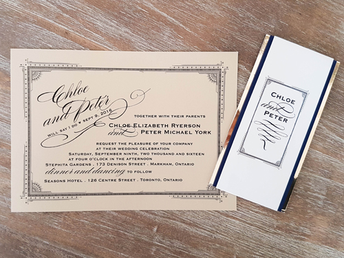 Wedding Invitation 1679: Gold Dust, Gold Dust