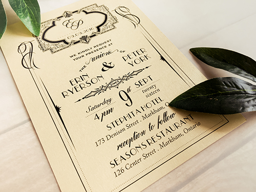 Wedding Invitation 1690: Gold Dust, Gold Dust