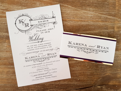 Wedding Invitation 1712: Ice Pearl, Ice Pearl