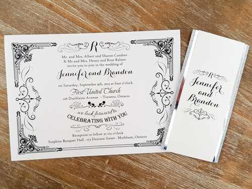Wedding Invitation 1741: Pearl, Pearl