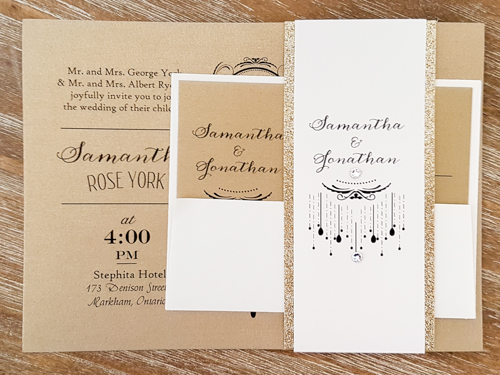Wedding Invitation 1742: Gold Pearl, Gold Pearl