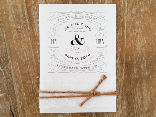 Wedding Invitation 1759: Ice Pearl, Ice Pearl, White Lace