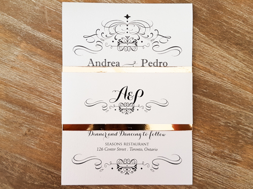 Wedding Invitation 1783: Ice Pearl, Ice Pearl
