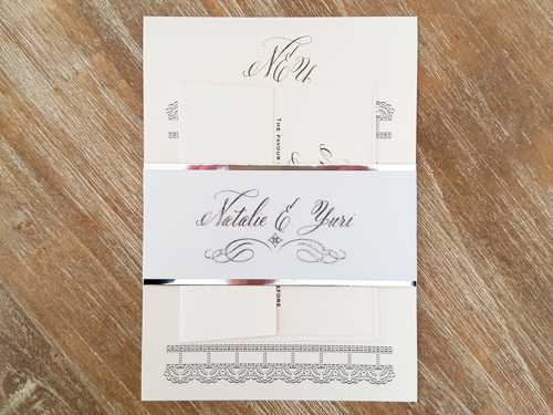 Wedding Invitation 1844: White Gold, White Gold