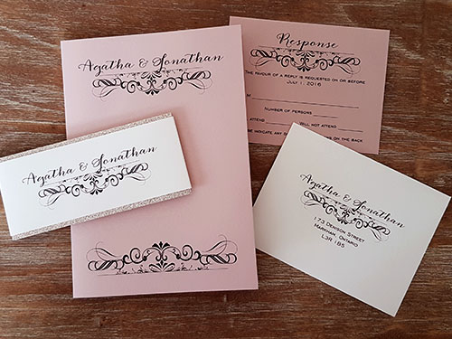 Wedding Invitation 1857: Blush Pearl, Blush Pearl