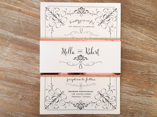Wedding Invitation 1861: White Gold, White Gold