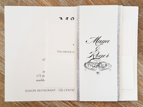 Wedding Invitation 1865: Ivory Pearl, Ivory Pearl
