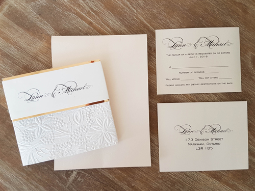 Wedding Invitation 1873: White Gold, White Gold