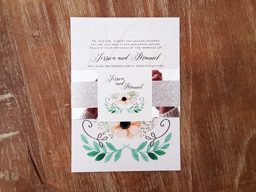 Wedding Invitation 2012: Ice Pearl, White Smooth