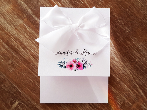 Wedding Invitation 2015: Ice Pearl, White Ribbon