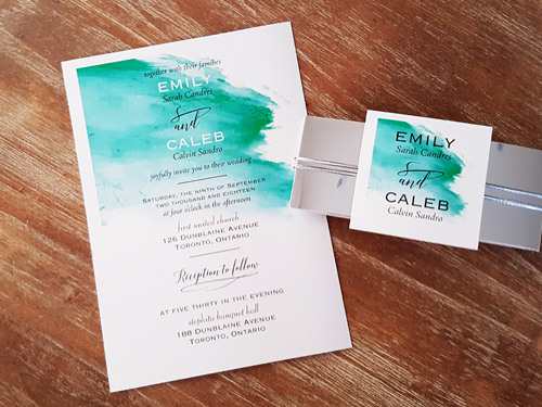 Wedding Invitation 2024: Ice Pearl, White Smooth
