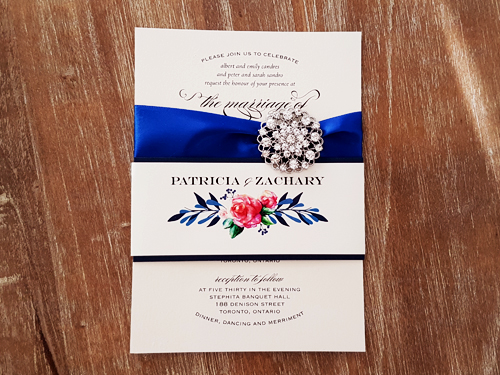 Wedding Invitation 2034: White Gold, Brooch/Buckle X