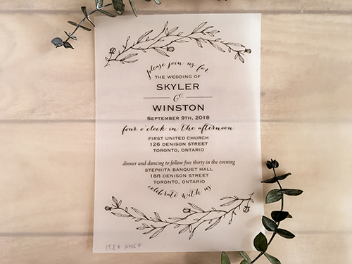 Wedding Invitation 2044: Vellum