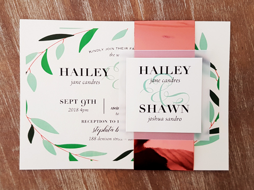 Wedding Invitation 2052: White Gold, Cream Smooth