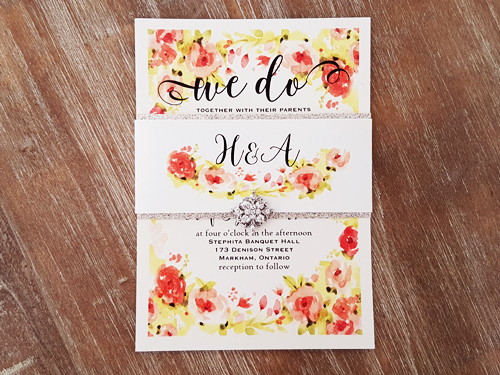 Wedding Invitation 2078: White Gold, Cream Smooth
