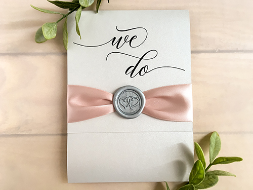 Wedding Invitation 2103: Silver Ore
