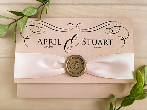 Wedding Invitation 2113: Blush Pearl