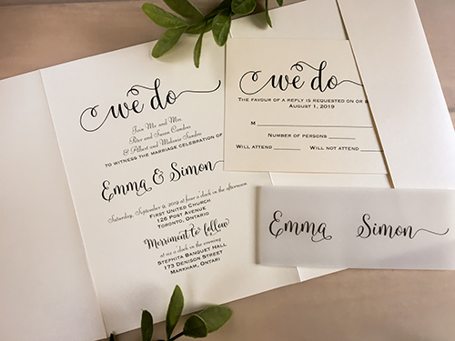 Wedding Invitation 2133: Ivory Pearl