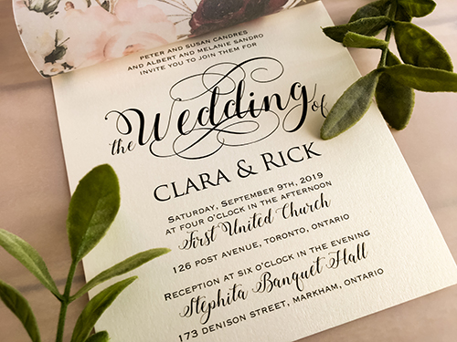 Wedding Invitation 2138: White Gold