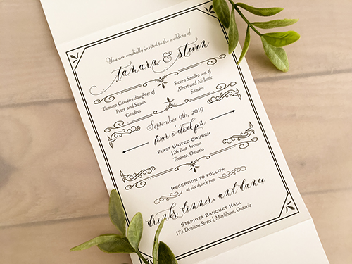 Wedding Invitation 2151: Pearl