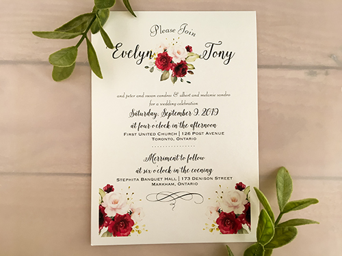 Wedding Invitation 2158: White Gold