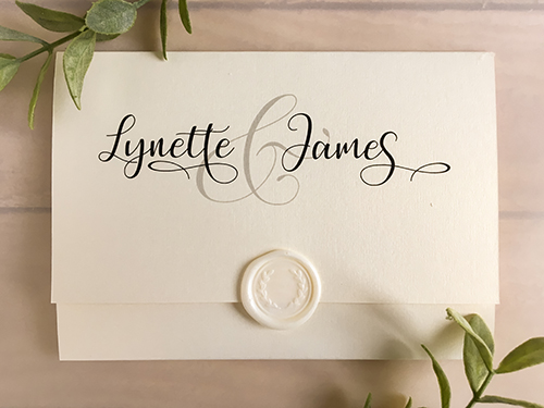 Wedding Invitation 2206: White Gold
