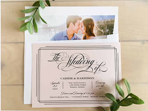 Wedding Invitation 2226: Light Pink Pearl