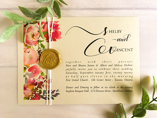 Wedding Invitation 2230: Champagne Gold