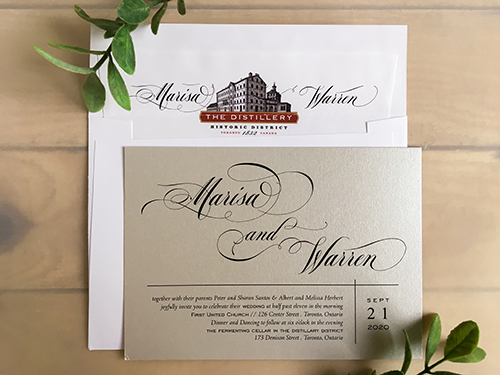 Wedding Invitation 2232: Silver Ore