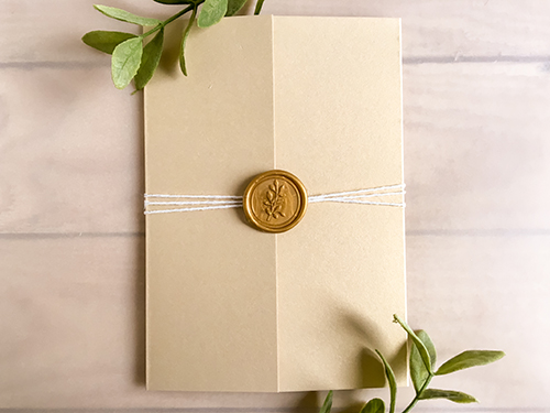 Wedding Invitation 2245: Champagne Gold