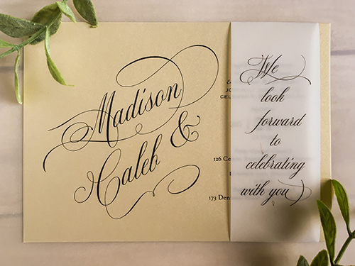 Wedding Invitation 2260: Champagne Gold