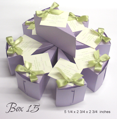 Favour Box Box15: Lilac Pearl, Honeydew Ribbon