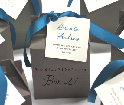 Favour Box Box21: N/A, Teal Ribbon
