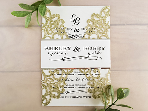Wedding Invitation lc100: Cream Smooth