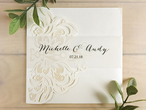 Wedding Invitation lc107: Cream Smooth