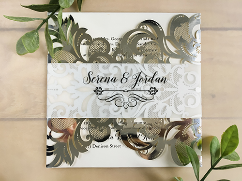 Wedding Invitation lc108: Cream Smooth