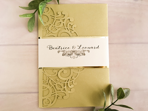 Wedding Invitation lc112: Cream Smooth