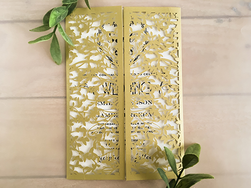 Wedding Invitation lc126: Cream Smooth