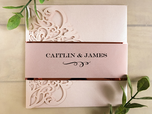 Wedding Invitation lc129: Cream Smooth