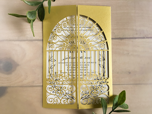Wedding Invitation lc131: Cream Smooth