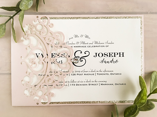 Wedding Invitation lc138: Cream Smooth