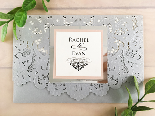 Wedding Invitation lc13: Blush Pearl, Cream Smooth