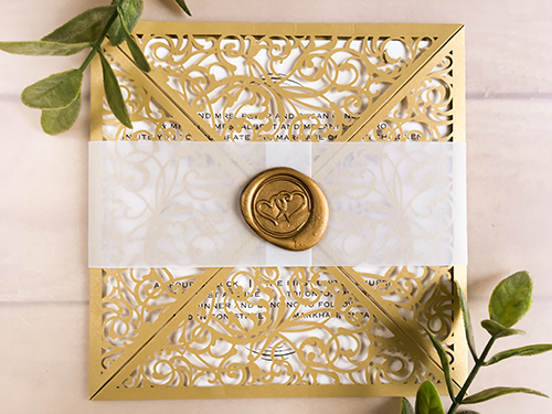 Wedding Invitation lc150: Cream Smooth