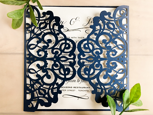 Wedding Invitation lc23: Cream Smooth